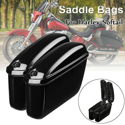 Motorcycle Hard Trunk Saddlebags Saddle Bags Side Box For Harley Softail DYNA