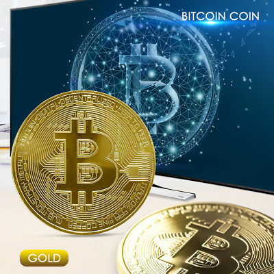 US Bitcoin Gold Plated Physical Fantasy Issue Coin In Protective Acrylic Case