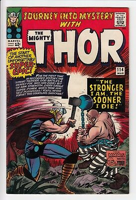Journey Into Mystery #114 Vol 1 Super High Grade Thor 1st App of Absorbing Man
