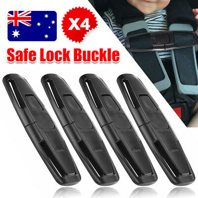 4 X Car Baby Safety Seat Strap Belt Harness Chest Clip Child Safe Lock Buckle AU