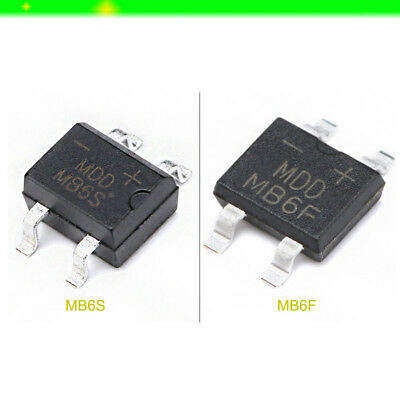 Various Packs IC MB6S MB6F 0.5A/0.8A 600V Mini SMD Diode Bridge Rectifier