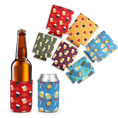 6x Lagute Thick Neoprene Beer Can Cooler Sleeves Coolies Coozie Koozie Flower