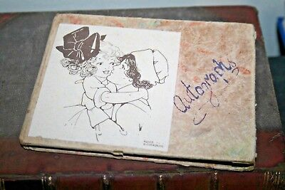 Cute Antique Vintage 1940 Autograph Book Ephemera Signatures Wartime Journal Old