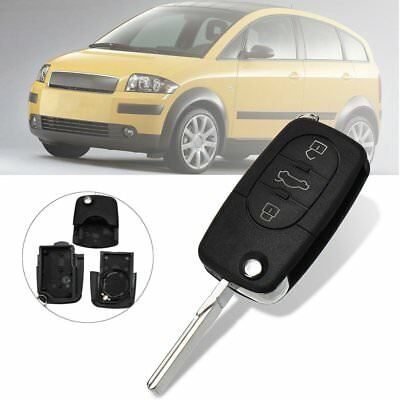 3 Button Remote Key Fob Case Shell HAA Blade Uncut For Audi A2 A3 A4 A6 A8 TT