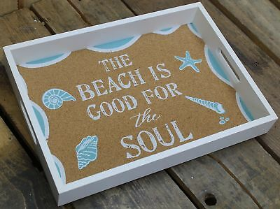 Seaside Beach Display Drinks Snacks Serving Tray ~ Good For The Soul
