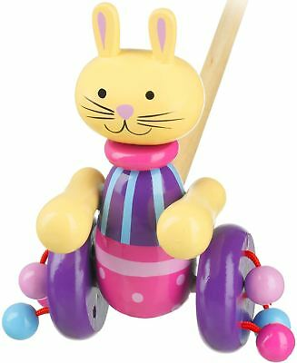 Orange Tree Toys Push Along Wooden Toy - Rabbit