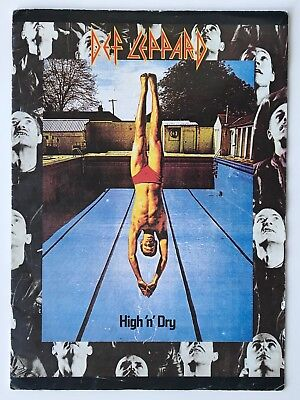 DEF LEPPARD rare 1981 SIGNED / AUTOGRAPHED High 'n' Dry tour programme