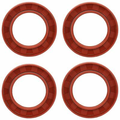 4 Trailer Bearing Hub Imperial Rubber Oil Seal OD 2.75 x ID 1.75 x W 0.37 Inches