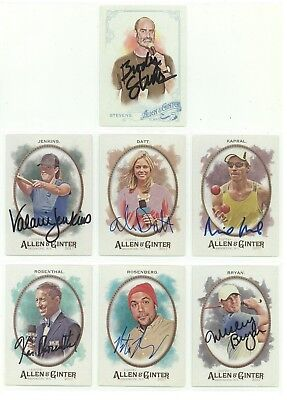 Ken Rosenthal 2017 Topps Allen Ginter Signed Card Authentic Autograph Auto