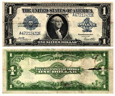 Vtg 1923 $1 U S Silver Certificate Lg Size Currency Note WASHINGTON FR#238 CIRC
