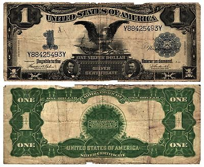 Classic 1899 $1 Lg Size Silver Certificate Currency Note BLACK EAGLE Fr#233 CIRC