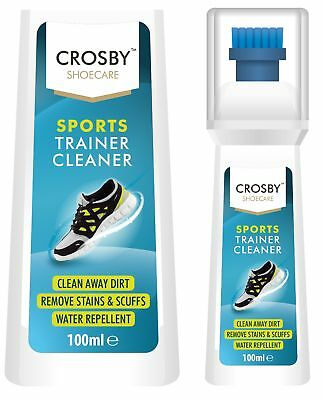 100ml Crosby Sports Trainer Dirt Stain Cleaner Water Resistant Sneaker Sponge