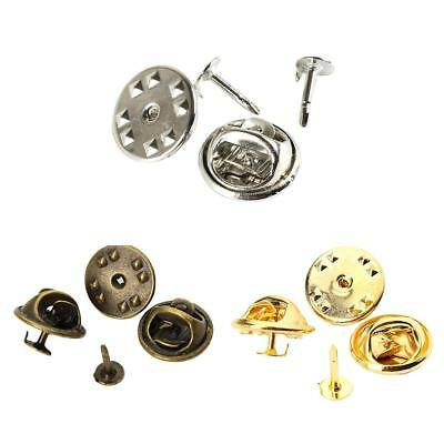 50 SET Tie Tacks Butterfly Pinch Back Pins Clutch Back Lapel Scatter Pin DIY