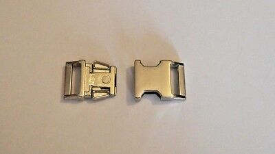 17mm Curved/Contoured Metal Side Release Buckle