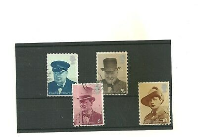 GB 1974 Birth centenary of Sir Winston Churchill set of 4 used stamps