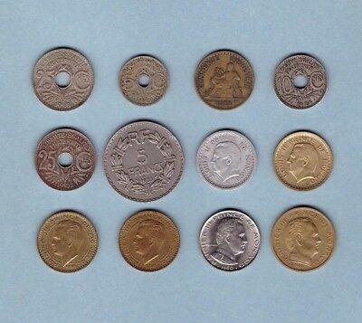 Monaco & France - Coin Collection Lot #X-90 - World/Foreign/Europe