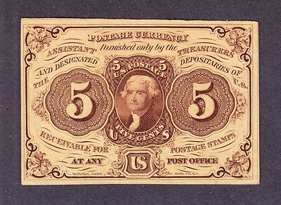 US 5c Fractional Currency Note 1st Issue FR 1230 Ch CU (-005)