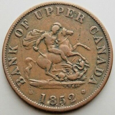 1852 PC-5B2 Province Of Canada Colonial Canadian Bank Of Upper Canada Token