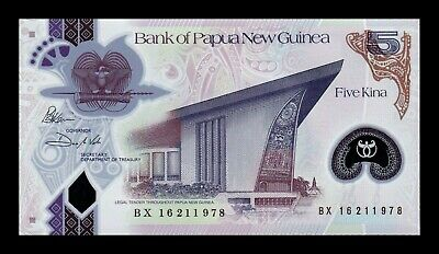 B-D-M Papua New Guinea 5 Kina 2016 Pick 29 New Polymer Reduced size UNC