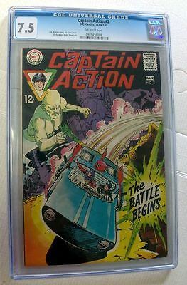 Dc Comics Superman Captain Action 2 12/68-1/69 Cgc 7.5 New Mint