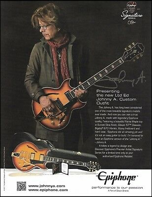 Johnny A. Signature Custom Epiphone Guitar Outfit ad 8 x 11 advertisement print