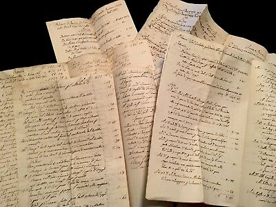 COLLECTION OF BALANCE SHEETS 1790s ENLIGHTENMENT ERA BUDGETS 56 pages