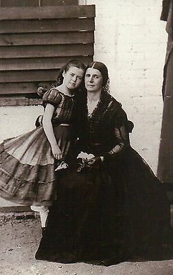 Rose O.Neal Greenhow Confederate Spy American Civil War with Daughter - Postcard
