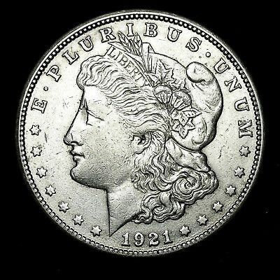 1921 S ~**ABOUT UNCIRCULATED AU**~ Silver Morgan Dollar Rare US Old Coin! #854