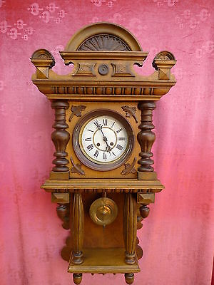 Beautiful, Antique, Large Wall Clock __Cantilever__ 94cm