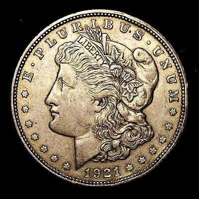 1921 D ~**ABOUT UNCIRCULATED AU**~ Silver Morgan Dollar Rare US Old Coin! #K42