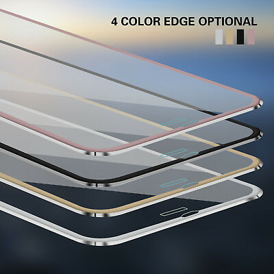 3D Full Coverage Metal Tempered Glass Screen Protector For iphone 6 6s 7 8 X New