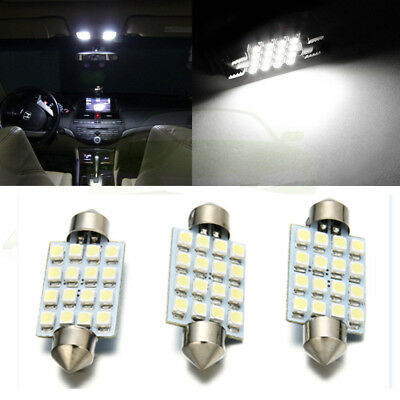 3PCS white 42mm 16SMD Car LED Festoon Dome Map Interior Cargo Light Bulbs 578 L7
