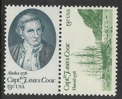 USA 1978 CAPTAIN COOK HAWAII JOINED PAIR 2v MNH