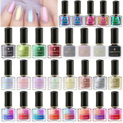 6/9ml BORN PRETTY Mirror Metallic Thermal Holographic Nail Polish Shell Varnish