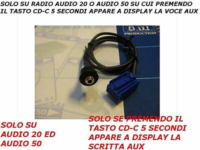 Aux Line Cavo Audio In cable Mercedes Classe A B C CLK M R S Audio 20 50 04->08