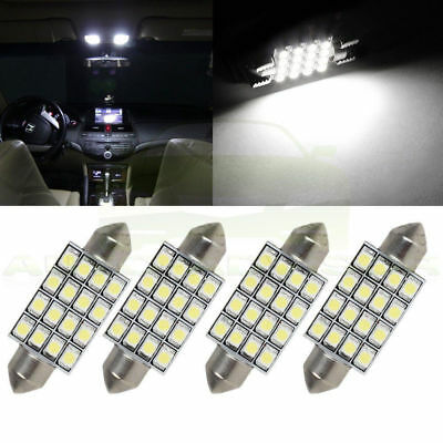 3X 42mm 12V 16 SMD Car LED Festoon Dome Map Interior Cargo Light Bulbs White FT