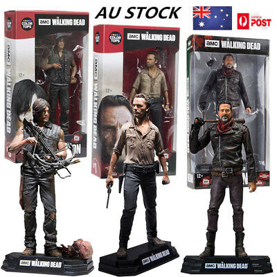 "The Walking Dead Seasons 8 Daryl Negan Rick Action Figure Toy Boxed Gift 7"" AU"