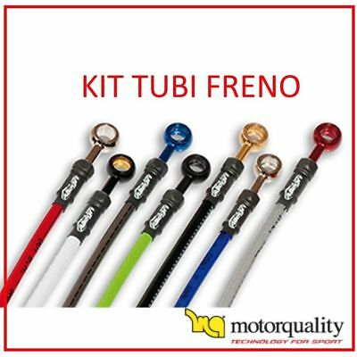 Kit Tubi Freno Aeronautici Treccia Ant + Post Ducati 900 Monster I.e. 00 - 03