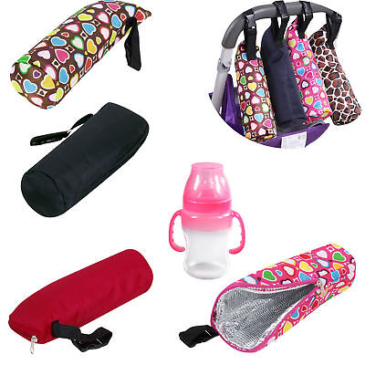 Feeding Milk Bottle Warmer Thermal Insulation Hanging Bag Case for Baby Pram