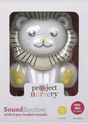White Noise Sound Machine Lullabies Heartbeat Dimming Nightlight Timer Lion Baby