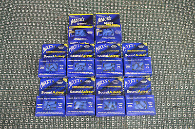 10 Packs of Mack's Sound Asleep Extreme Comfort Earplugs 32 dB Noise Reduction