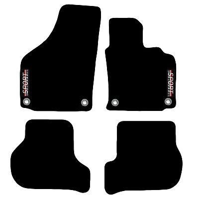 VW Golf MK5 2003 to 2008 Tailored Carpet Car Floor Mats with logo 4 Oval Clips