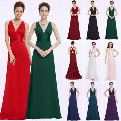 Ever-pretty Long V-neck Formal Evening Party Dresses Cocktail Prom Gowns 09008
