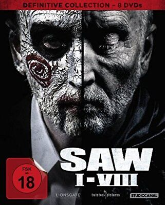 8 DVDs * SAW BOX I-VIII 1+2+3+4+5+6+7+8 DEFINITIVE COLLECTION FSK 18 # NEU OVP /