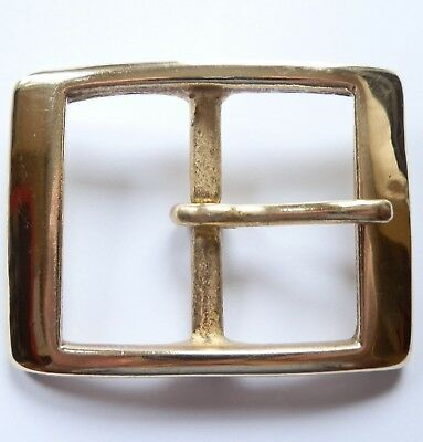 "1 3/4"" Inch 44Mm Solid Cast Brass Full Belt Buckle"