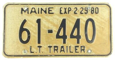 Maine 1980 LT LONG TERM SEMI TRAILER License Plate 61-440!