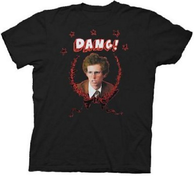 Adult Men's Napoleon Dynamite Face Comedy Movie 'Dang!' Black T-shirt Tee