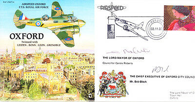 PP14 OXFORD RAF flown signed Mayor cover