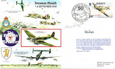 RAFA 13 WWII WW2 Invasion Month RAF cover signed Battle of Britain WRIGHT DFC