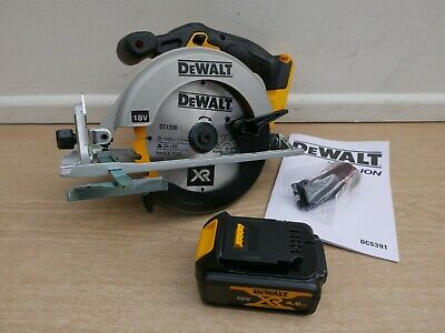 Dewalt Xr 18V Dcs391 Circular Saw Bare Unit + Dcb182 4 Ah Battery